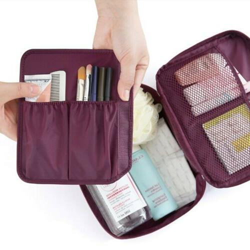 Small Women Travel Makeup Cosmetic Bag Storage Wash Pouch