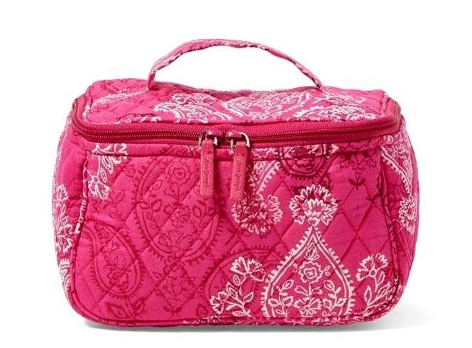 stamped paisley travel cosmetic makeup bag nwt