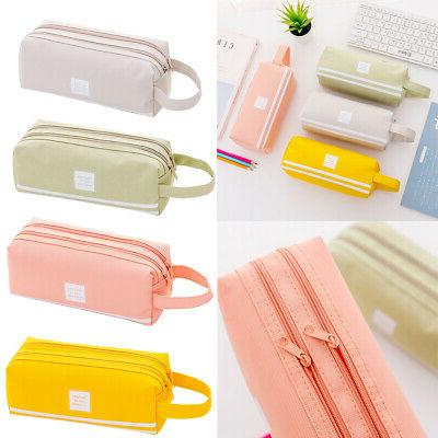 Large Pencil Office Pen Makeup Bag