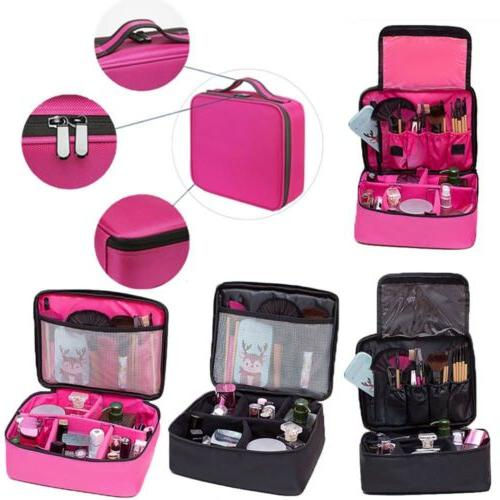 train case soft side makeup backpack cosmetic