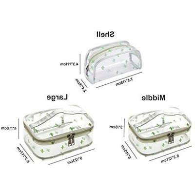 Train Cases Travel Cosmetic Bag With Top Handle