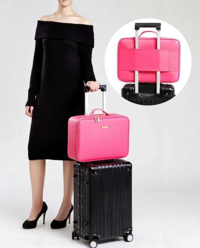 Train Cases For Women Leather Makeup EVA