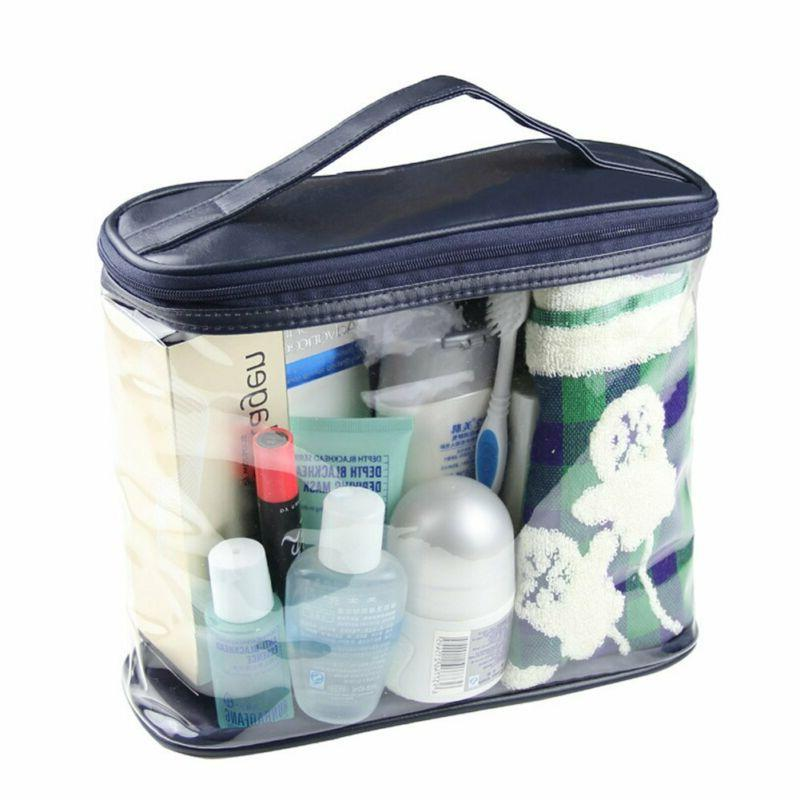 Halova Transparent Toiletry Bag, Clear Travel Makeup Pouch S