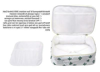 Travel Bags Makeup Case, Portable Kit Cactus