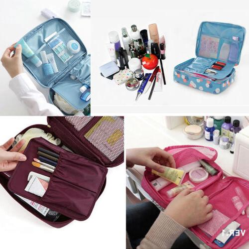 Travel Cosmetic Makeup Bag Toiletry Pouch Wash Organizer Storage