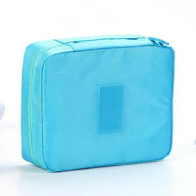 travel folding multi pouch cosmetic makeup organizer