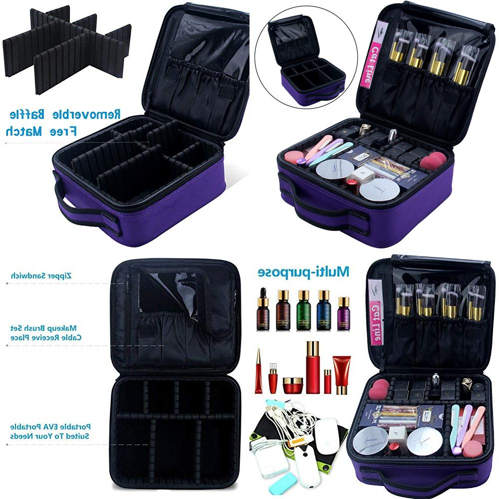 travel makeup case samtour professional cosmetic bag