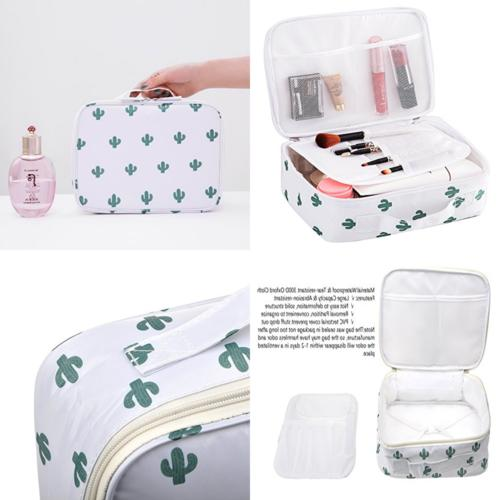 travel makeup cosmetic case portable brushes toiletry
