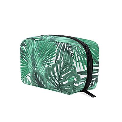 ALAZA Tropical Palm Monstera Leaves Makeup Case Bag Appropri