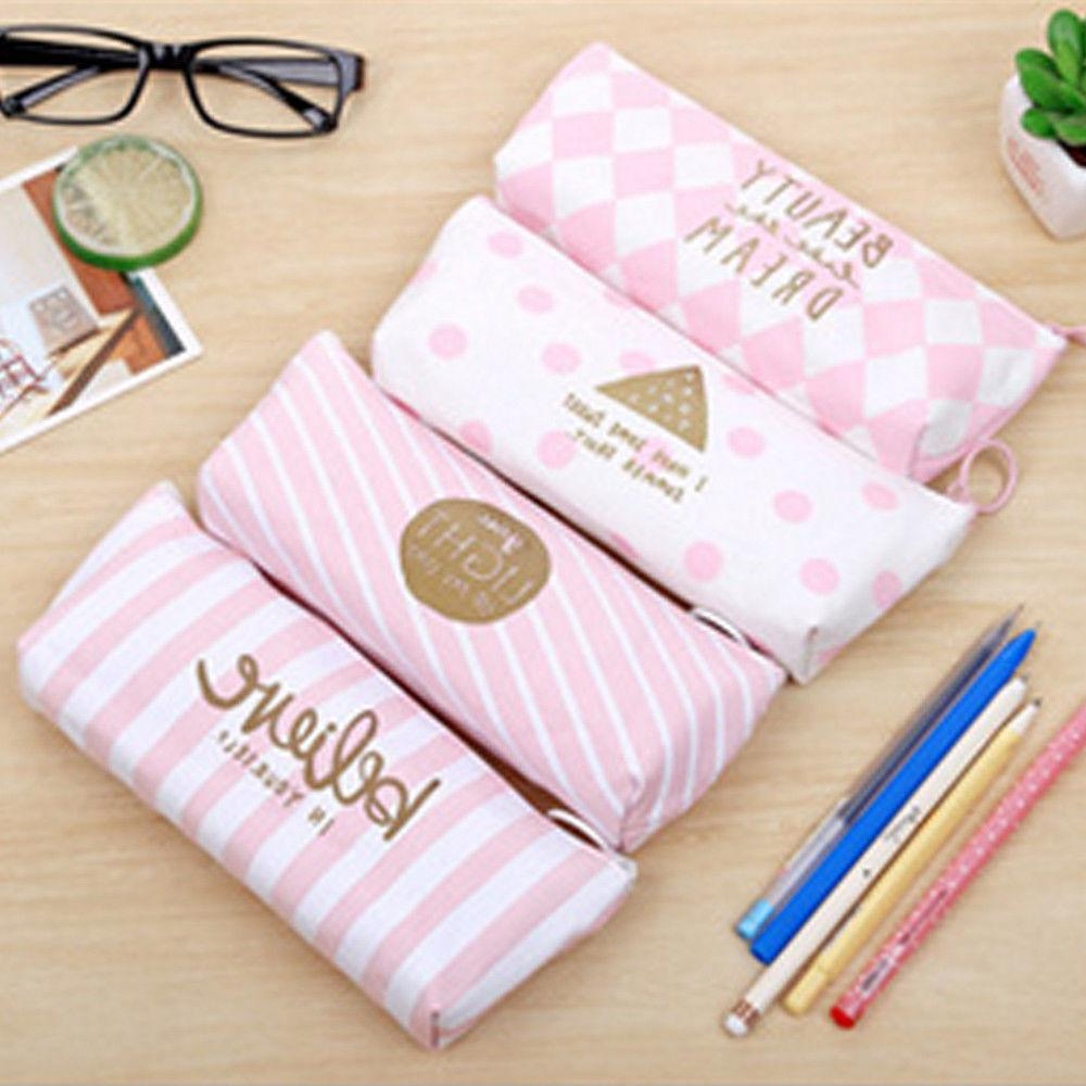 Canvas Cute Pen Case Students