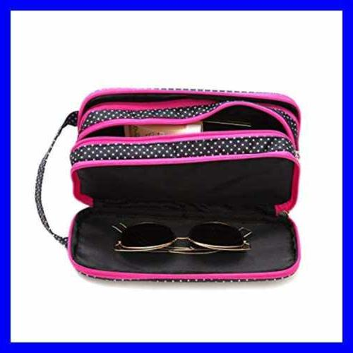 Versatile Travel Makeup Bag LARGE Cosmetic Pouch Organizer P
