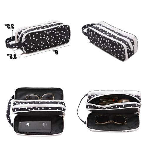 versatile travel makeup bag large cosmetic pouch
