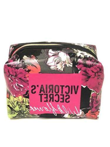 victorias secret wildflower makeup bag tote travel