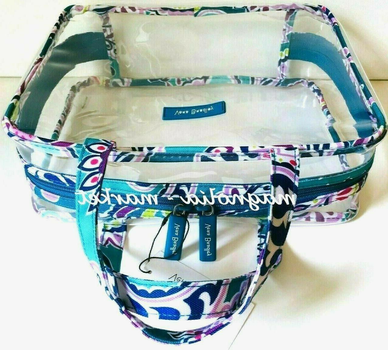 Vera Bradley PAISLEY Large Clear Cosmetic Travel