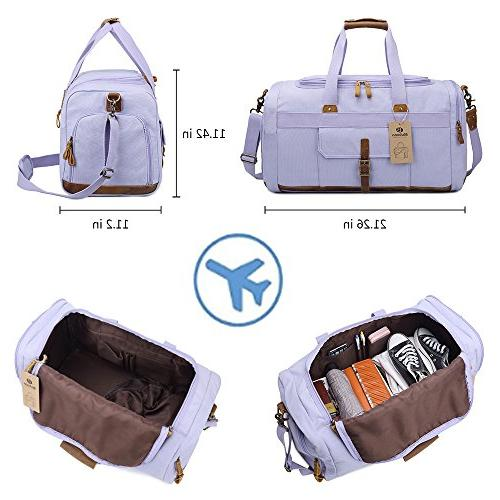 Weekender with Compartment Women Men Weekend Travel Carry Bag