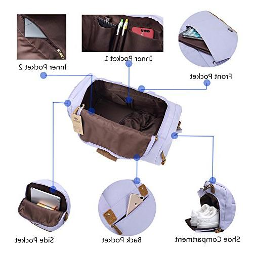 with Shoes Women Men Weekend Travel Bag