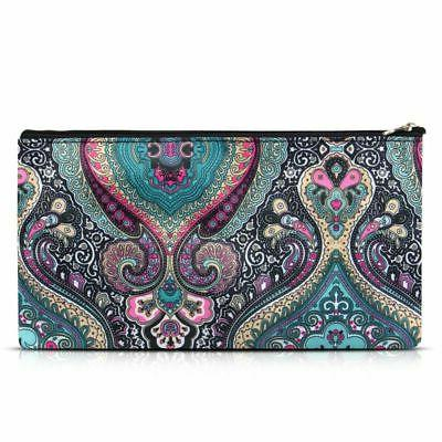 Women Cosmetic Makeup Organizer for Camping Hiking Travel Paisley