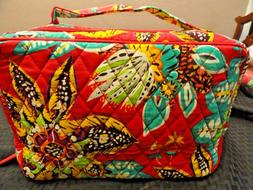 VERA BRADLEY Large BLUSH & BRUSH MAKEUP CASE Bag  RUMBA Patt