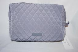 VERA BRADLEY LARGE COSMETIC BAG MAKEUP CASE CARBON GRAY - NW