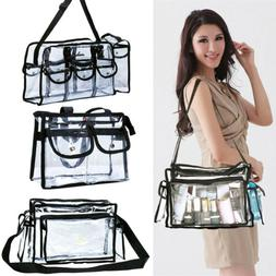 Large Cosmetics PVC Transparent Clear Makeup Bag Pro Round B