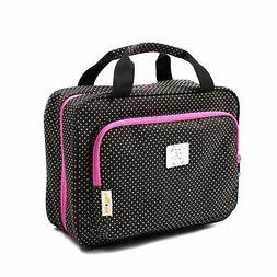 Large Polka Dot Travel Cosmetic Bag - Large Hanging Travel T