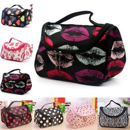 Large Travel Cosmetic Case Toiletry Makeup Bag Storage Handl