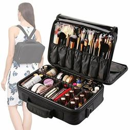 VASKER 3 Layers Waterproof Makeup Bag Travel Cosmetic Case P