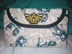 Legend Of Zelda Cosmetic Makeup Bag New with brush roll