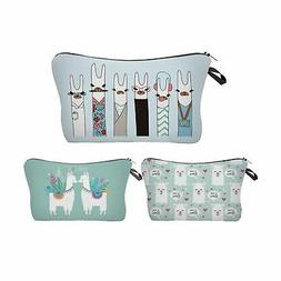 Llama makeup bag fun cartoon versatile purse