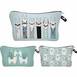 Llama Makeup Bag Fun Cartoon Versatile Purse  Beauty