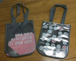 Lot /2  IT Cosmetics Tote Bags~ Foil Bag It / Your Are Beaut