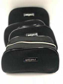 Lot of 5 : Lancome Cosmetic Makeup Bag Case Zipper ~ Black C