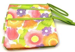 Lot of 5: Clinique Cosmetic Makeup Bag Zipper Pouch with Han