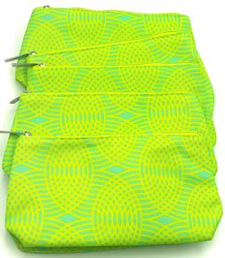 Lot of 6: Clinique  Cosmetic Makeup Bag  Pouch ~ Green