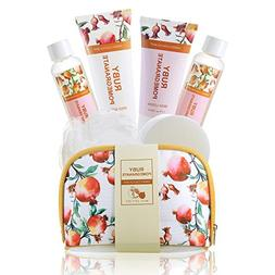 Lush Bath and Body Travel Set in Pomegranate and Floral Esse