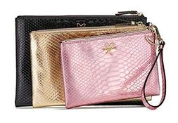 Victoria's Secret Luxe Python Cosmetic Bag Trio, Pink Gold B