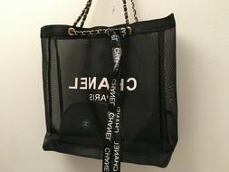 Luxury Mesh Tote Shoulder Bag with Cosmetic Pouch VIP GIFT G
