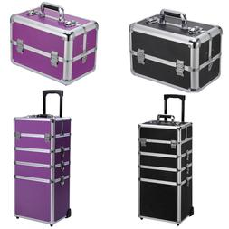 Ollieroo Make up Train Case Professional Travel Cosmetic Art