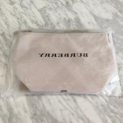 BURBERRY Makeup Bag Cosmetic Pouch CLUTCH PURSE tote Tan Bei