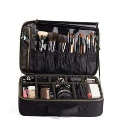 ROWNYEON Makeup Bag Organizer Cosmetic Train Case Travel Por