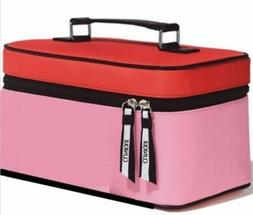 CLINIQUE Makeup BAG/Train CASE  Red/Pink New!