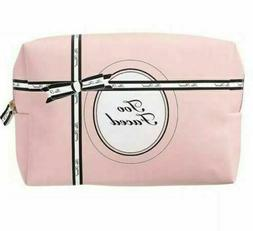 Too Faced Makeup Cosmetic Bag Pink & Black New
