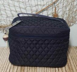 Makeup Cosmetic Bag Quilted Train Case Bags By NGIL Black or