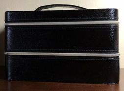 Lancome Makeup Cosmetic Bag Train Case w/2 Zip Compartment B