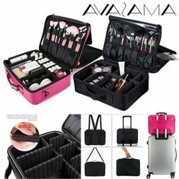 Makeup Train Case Cosmetic Travel Storage Organizer Dividers