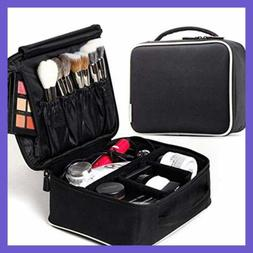 ROWNYEON Makeup Train Case Travel Bag Mini Cosmetic Organize