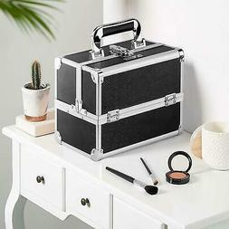 Makeup Train Case Travel Cosmetic Box Organizer Lockable Sto