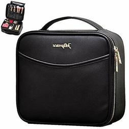 Joligrace Makeup Train Case Travel Cosmetic PU Leather Makeu