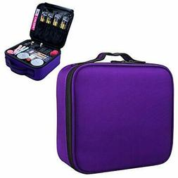 MONSTINA Makeup Train Cases Organizer Portable Storage Bag f
