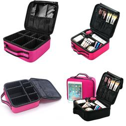 MONSTINA Makeup Train Cases Professional Travel Bag Cosmetic